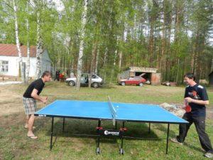 Настольный теннис в центре социальной помощи
