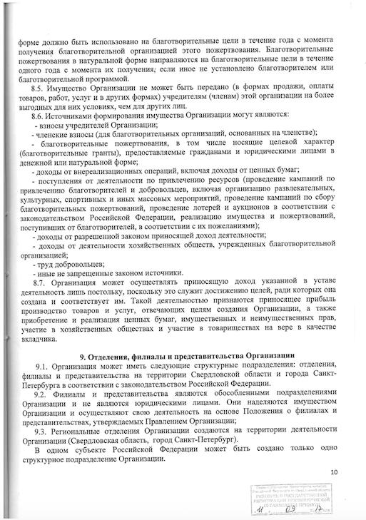 11стр уставных док-тов компании