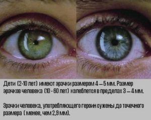глаза героинового наркомана